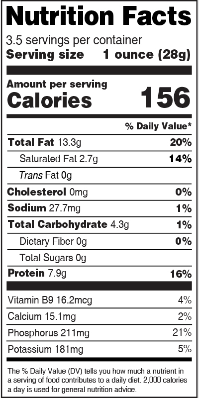 Nutrition Label Watermelon Seed